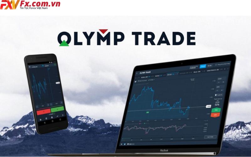 Nền tảng của Olymp Trade.