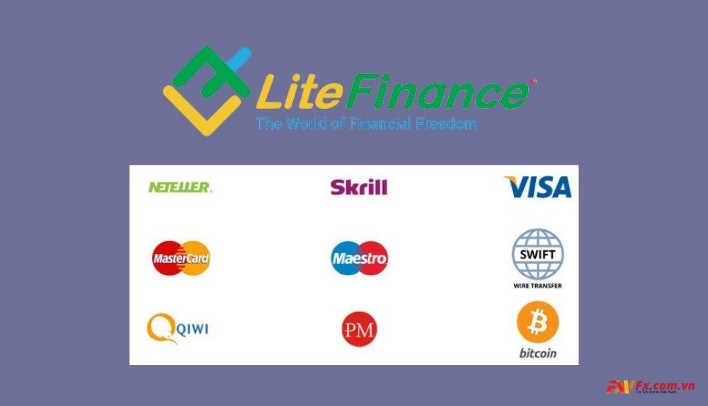 Review LiteFinance hình thức nạp rút tiền - nạp rút tiền sàn LiteFinance