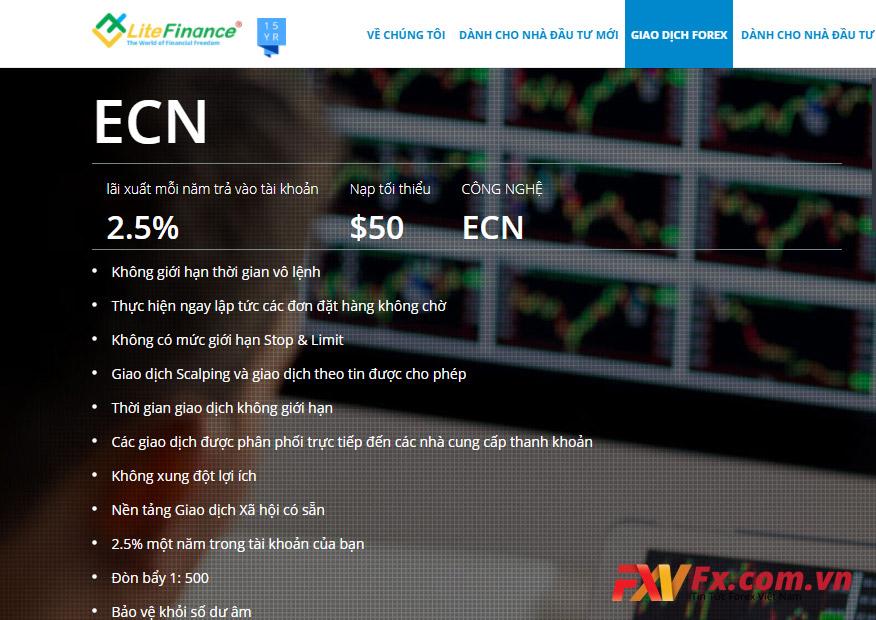 Thông số kỹ thuật của tài khoản ENC