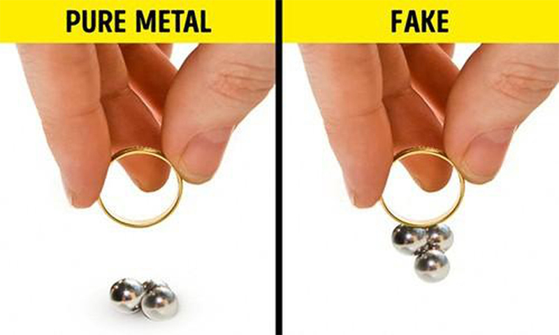 Cách thử vàng đơn giản tại nhà bằng nam châm