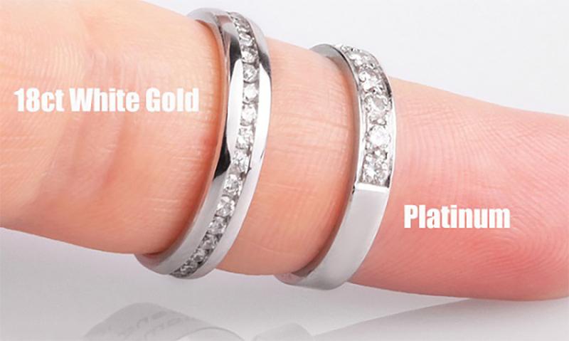 Giá thành của vàng trắng và bạch kim
