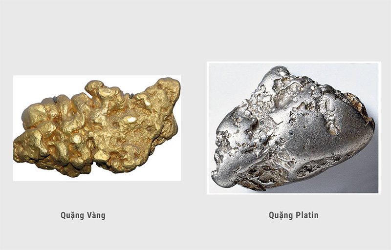 So sánh vàng trắng và bạch kim