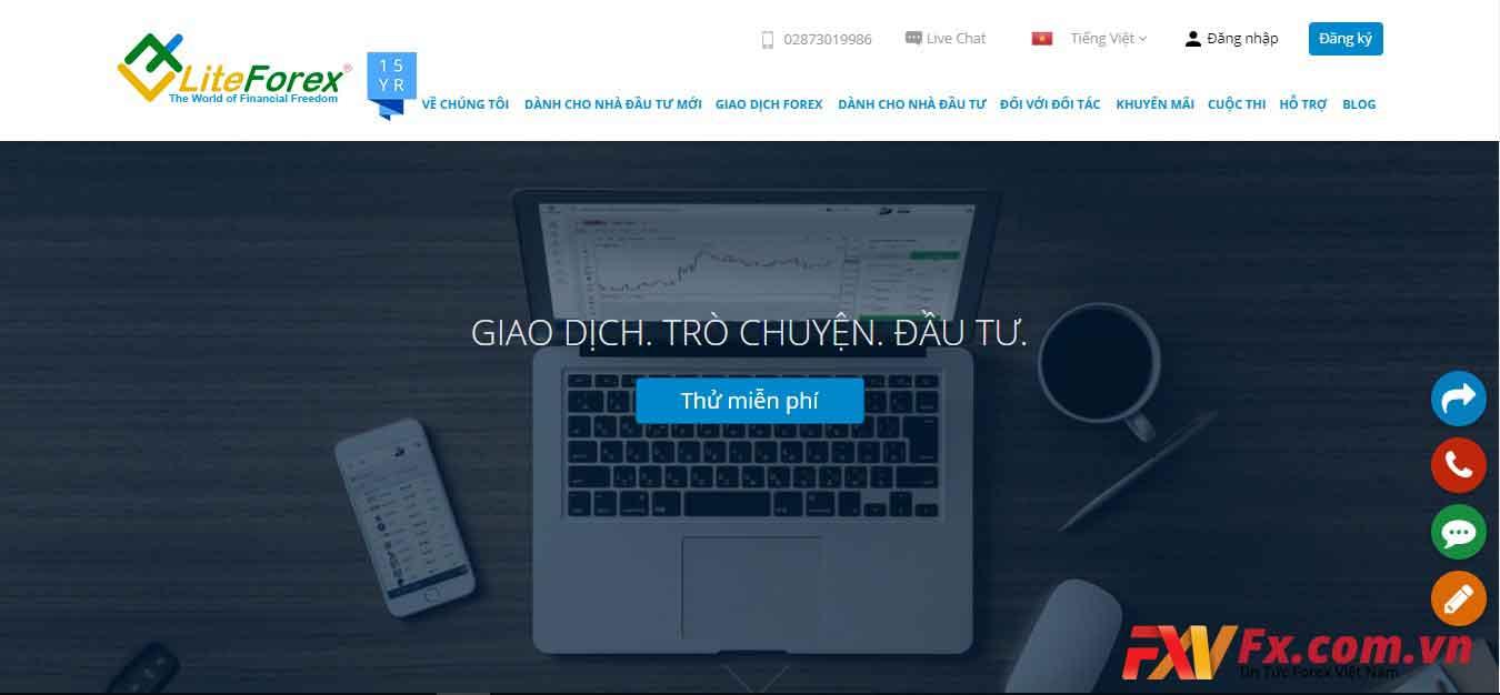 Trang web LiteFinance có thiết kế đơn giản, bố cục chỉnh chu, tốc độ load ổn định