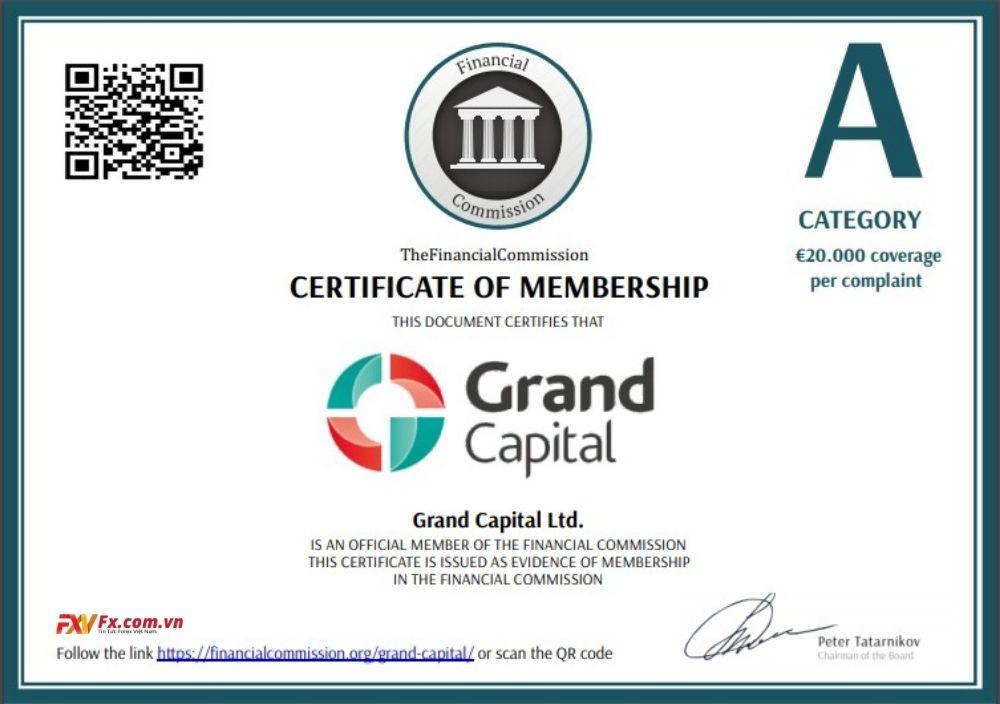 Đánh giá pháp lý của Grand Capital