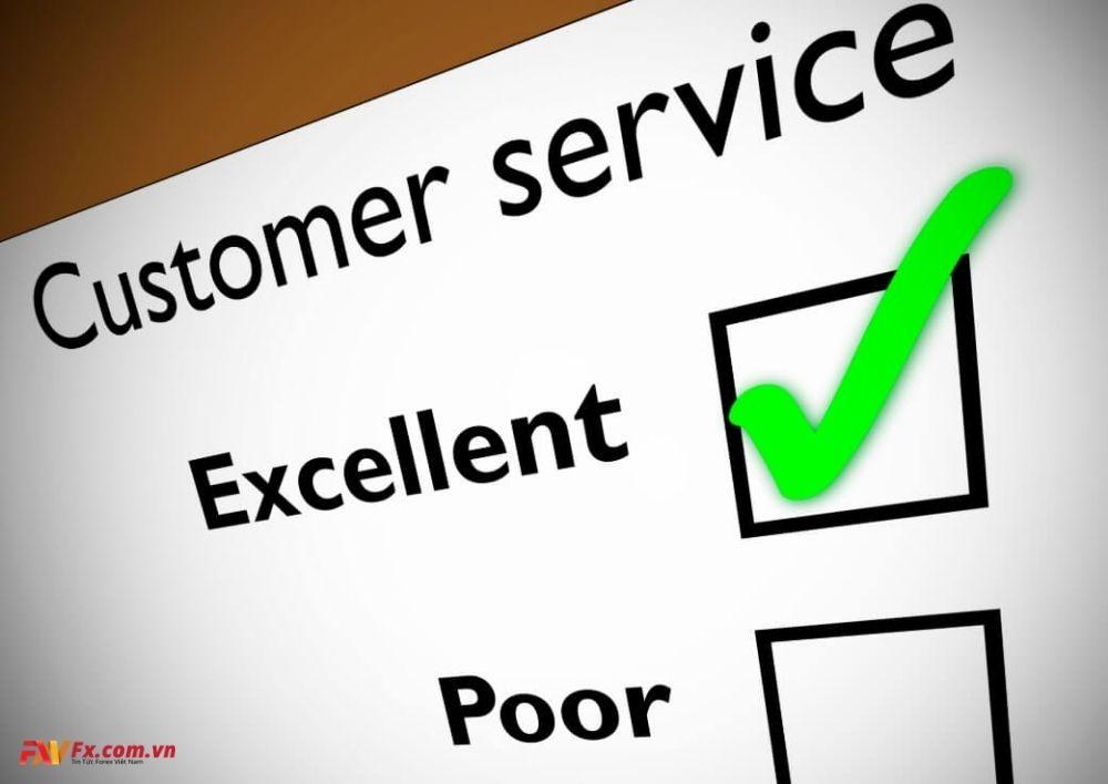 Chọn sàn Forex qua dịch vụ chăm sóc khách hàng
