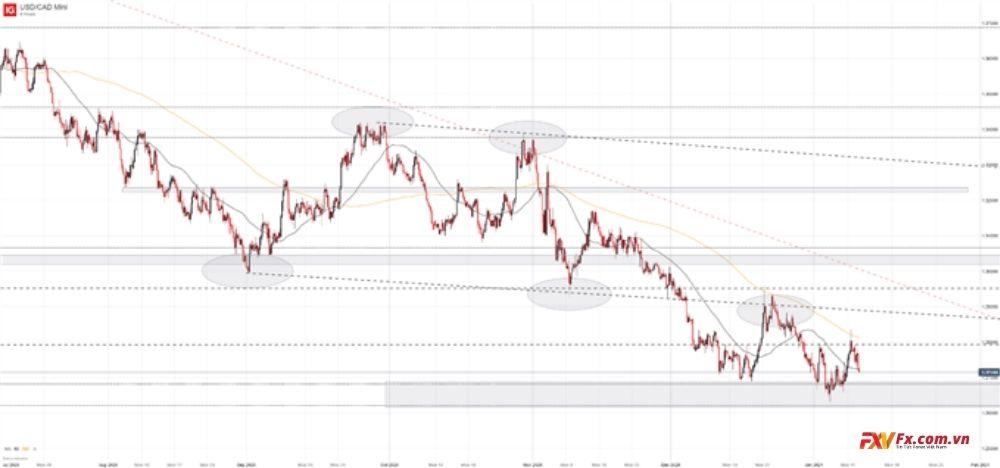 Dự đoán sự thay đổi của cặp tiền USD/CAD