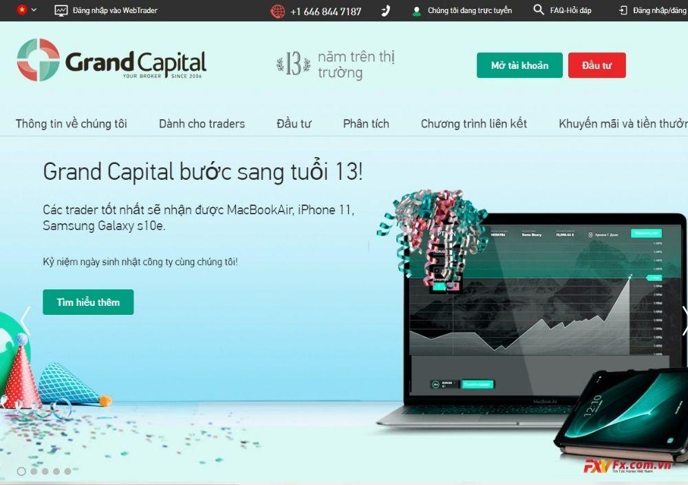 Những tài sản được phép giao dịch tại sàn Grand Capital