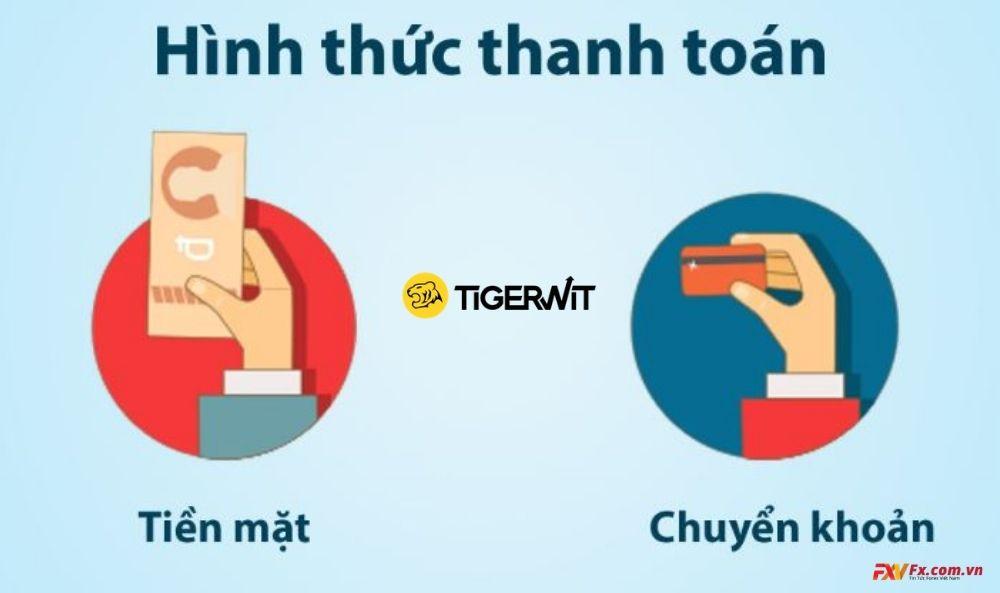 Gửi và rút tiền tại TigerWit