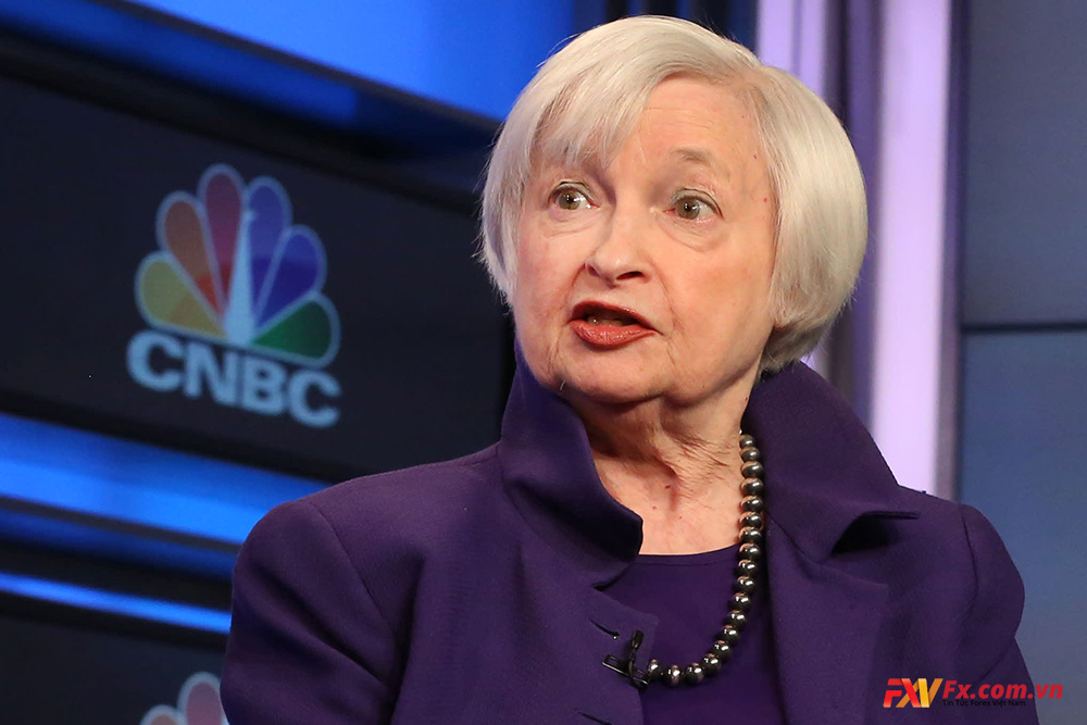 Janet Yellen trong một cuộc phỏng vấn với CNBC