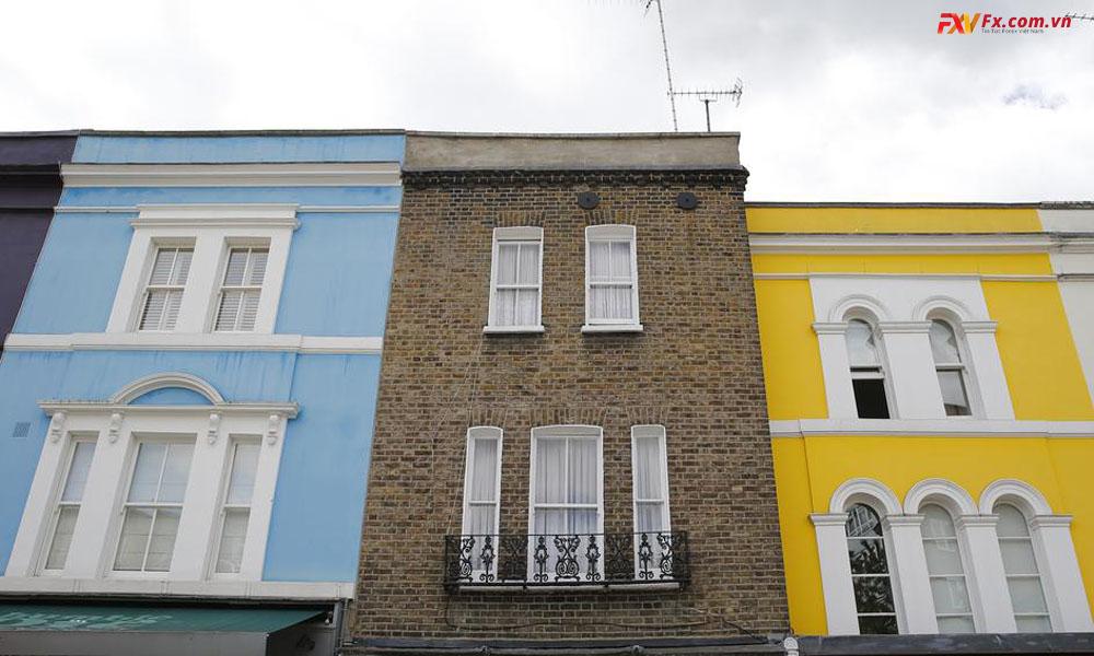 Giá nhà ở Anh tăng đáng kể trong năm