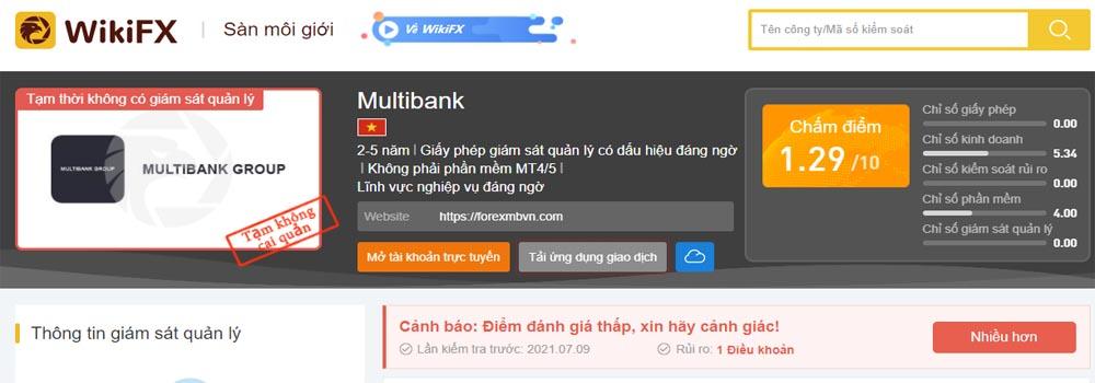 Đánh giá sàn Multibank của WikiFX