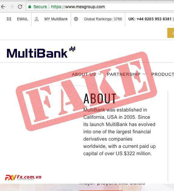 Multibank lừa đảo khách hàng việc có văn phòng tại Mỹ
