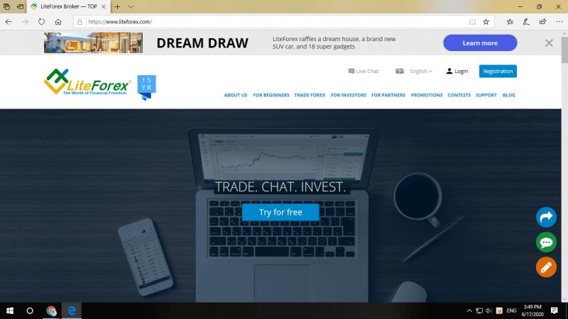 Trang web của LiteFinance