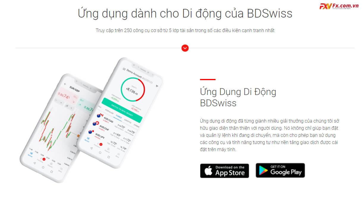 Ứng dụng dành cho di động của BDSwiss