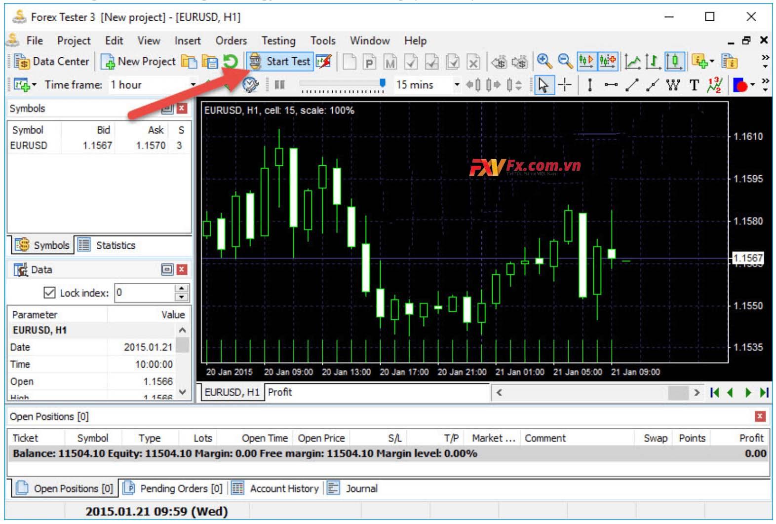 Cách tạo Project trên Forex Tester 3