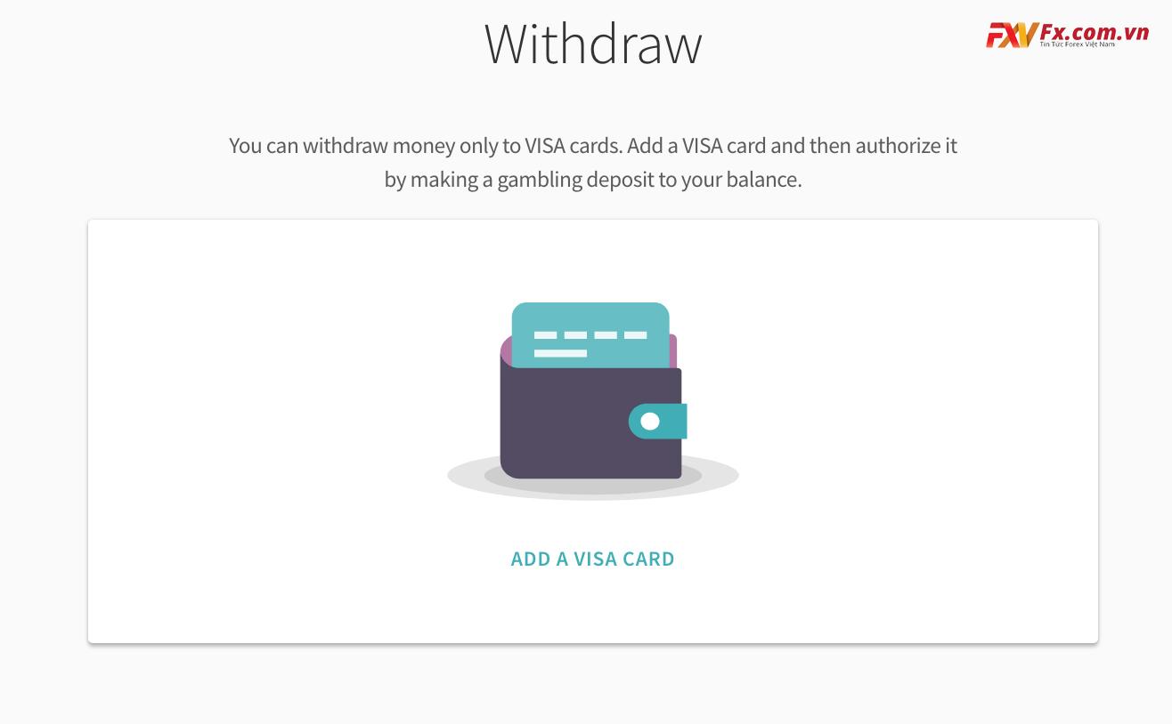 Rút tiền về thẻ ghi nợ/tín dụng của ví Skill