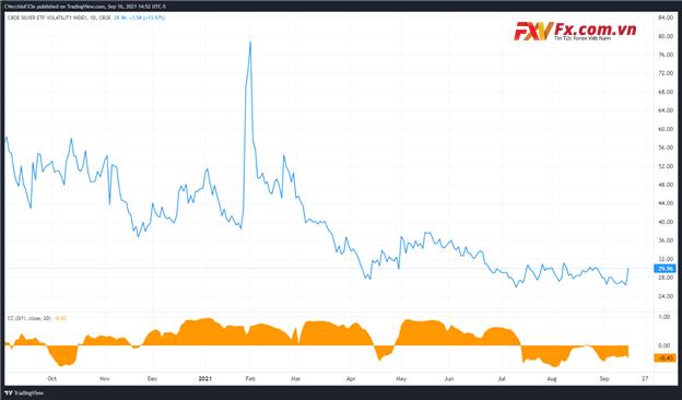 Phân tích kỹ thuật VXSLV (khối lượng bạc) biểu đồ giá hàng ngày