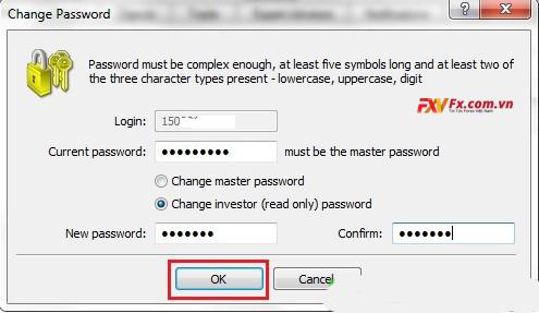 Điền mật khẩu mới
